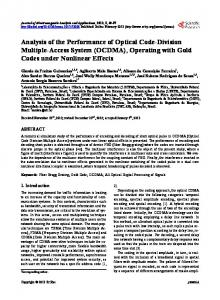 Analysis of the Performance of Optical Code-Division Multiple-Access