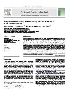 Analysis of the relationship between flooding area and water height in