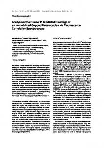 Analysis of the RNase T1 Mediated Cleavage of an Immobilized ...
