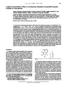 Analysis of the Substituent Effect on the Reactivity