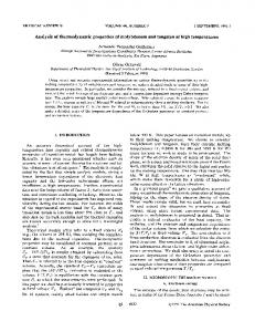 Analysis of thermodynamic properties of molybdenum and tungsten at