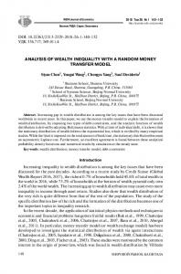 analysis of wealth inequality with a random money