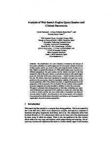 Analysis of Web Search Engine Query Session ... - Semantic Scholar