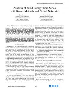 Analysis of Wind Energy Time Series with Kernel Methods ... - windML