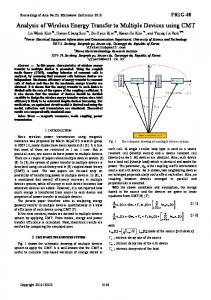 Analysis of Wireless Energy Transfer to Multiple Devices ... - IEEE Xplore