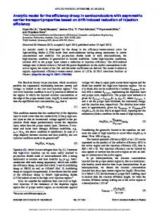 Analytic model for the efficiency droop in semiconductors ... - RPI ECSE