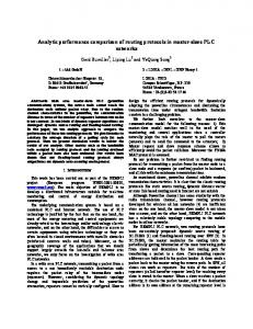 Analytic performance comparison of routing protocols in master-slave ...