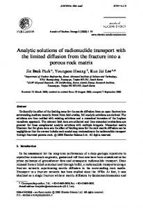Analytic solutions of radionuclide transport with the
