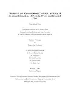 Analytical and Computational Tools for the Study of Grazing