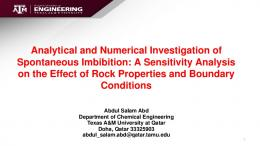 Analytical and Numerical Investigation of