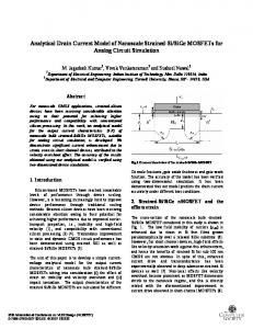 Analytical Drain Current Model of Nanoscale Strained-Si/SiGe ...