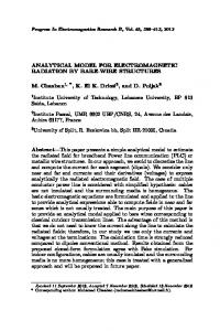 ANALYTICAL MODEL FOR ELECTROMAGNETIC RADIATION BY ...