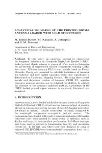 ANALYTICAL MODELING OF THE PRINTED DIPOLE ANTENNA ...