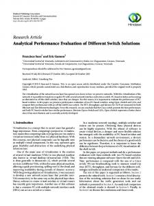 Analytical Performance Evaluation of Different Switch Solutions