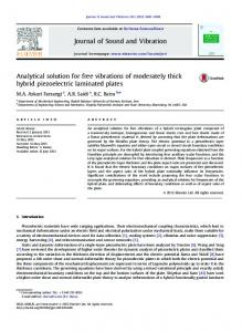 Analytical solution for free vibrations of moderately thick hybrid ...