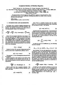 Analytical Solution of Mathieu Equation