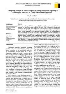 Analyzing changes in metabolite profile during postharvest ripening in ...