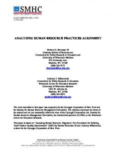 Analyzing Human Resource Practices Alignment - Strategic ...