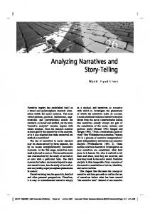 Analyzing Narratives and Story-Telling