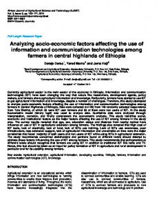 Analyzing socio-economic factors affecting the use ... - Oceanic Journals