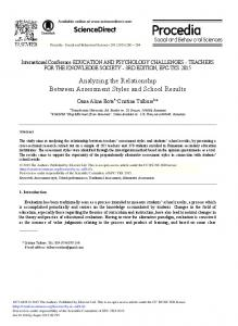 Analyzing the Relationship between Assessment ... - ScienceDirect.com