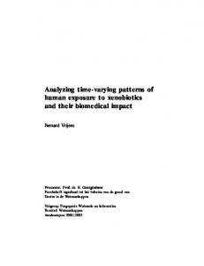 Analyzing time-varying patterns of human exposure to xenobiotics and ...