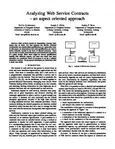 Analyzing Web Service Contracts - an aspect ... - Semantic Scholar
