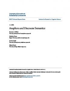 Anaphora and Discourse Semantics