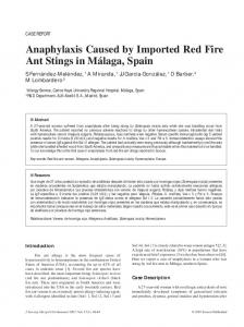 Anaphylaxis Caused by Imported Red Fire Ant Stings in ... - CiteSeerX