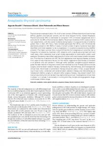 Anaplastic thyroid carcinoma - BioMedSearch