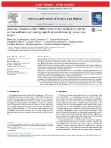 Anatomic variation of the relation between the ... - Semantic Scholar