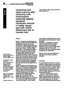 Anatomical and visual outcome after vitrectomy with