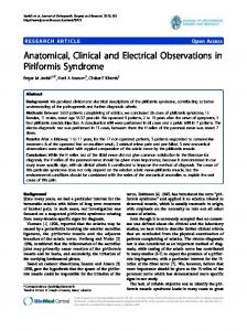 Anatomical, Clinical and Electrical Observations in ... - ScienceOpen