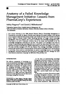Anatomy of a failed knowledge management ... - Wiley Online Library