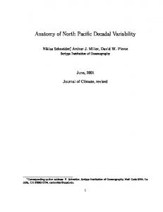Anatomy of North Paci c Decadal Variability