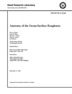 Anatomy of the Ocean Surface Roughness - Defense Technical ...