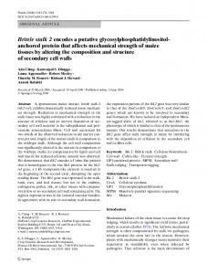 anchored protein that affects mechanical strength of ... - Springer Link