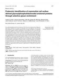 anchored proteins through se - Wiley Online Library