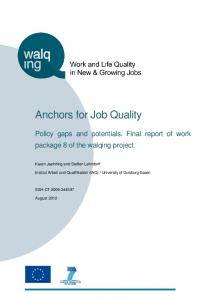Anchors for Job Quality