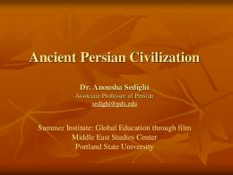 Ancient Persian Civilization - Middle East Studies Center