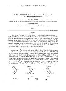 and 13C-NMR. Studies of some metal complexes of o