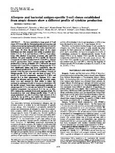 and bacterial antigen-specific T-cell clones established ... - Europe PMC