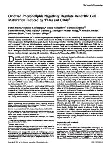 and CD40 Dendritic Cell Maturation Induced by TLRs Oxidized ...