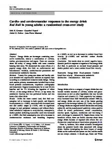 and cerebrovascular responses to the energy drink ... - Semantic Scholar