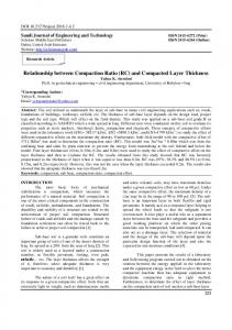 and Compacted Layer Thickness - Scholars Middle East Publishers