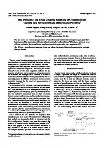 and Cross-Coupling Reactions of Arenediazonium Tosylate Salts for