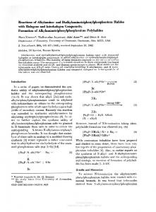 and Dialkylaminotriphenylphosphonium Halides with ...