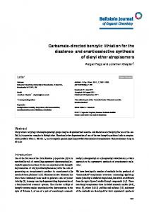 and enantioselective synthesis of diaryl ether