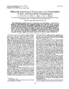and Extracellular Trypomastigotes - Infection and Immunity - American