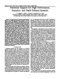 and Fault-Tolerant Systems - CiteSeerX